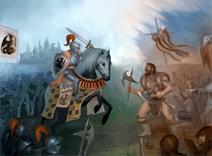 Knight and Barbarians. Battle for Freedom